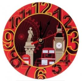 Londense straatbeeld klok Ø 17 cm
