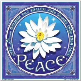 Raamsticker Peace Lotus 18 x 18 cm