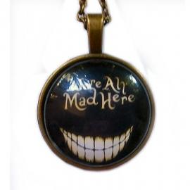 Glazen hanger met ketting Alice in Wonderland Cheshire Cat 4