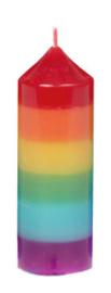Super Mirthe's Lichtpuntjes - Regenboog- Chakra kaars (klein)