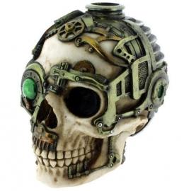 Steampunk kaarsenhouder - 16 cm hoog