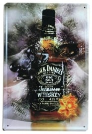 Blikken metalen wandbord Jack Daniel's 7 - 20 x 30 cm