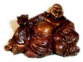 Happy boeddha roodgoud klein