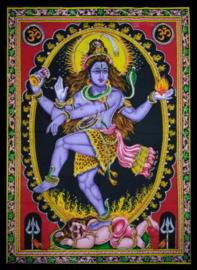 Indiase Hindu god wandkleed Shiva Nataraj 40 x 55 cm