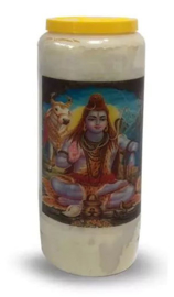 Noveenkaars Zittende Shiva - 6 x 6 x 17 cm