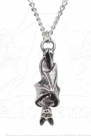 Alchemy Gothic nekketting - Awaiting The Eventide - hangende vleermuis - 4.2 cm