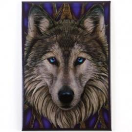 Wolf head  - magneet van Lisa Parker