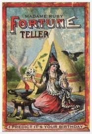 Verjaardagskaart Fortune Teller