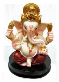 Beeld Ganesha met rode broek - 9 cm hoog