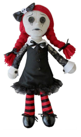 Spiral Direct Gothic Horror Vampier Knuffelpop - Luna - 40 cm hoog