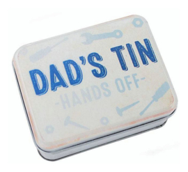 Metalen blik - Dad's tin - Hands off - 9.5 x 6 x 2.5