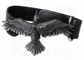 Alchemy UL 13 - leren en pewter armband - Black Consort
