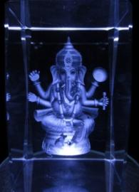 3d Laserblok Ganesha - 5 x 5 x 8 cm
