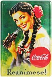 Blikken metalen wandplaat Cola 3 20 x 30 cm