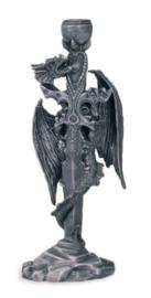 Kandelaar Gothic Draak met Zwaard - 26 x 10 x 6