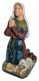 St. Bernadette knielend 15 cm hoog