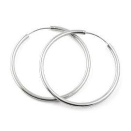 925 sterling zilveren hoep oorbellen 3.5 cm doorsnee