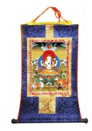 Tibetaanse thangka Witte Tara 50 x 62 cm