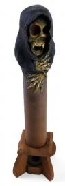 Houten wierookhouder skelet doodskop Magere Hein - 38 cm