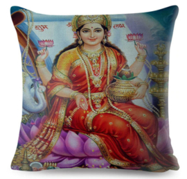 Kussenhoes Hindu God - Lakshmi - 45 x 45 cm