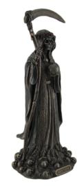 Santa Muerte Magere Hein Dag van de Doden bronskleurig beeld 29 cm hoog