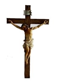 Christus op kruis hangend beeld 15 x 30 cm