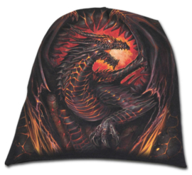 Spiral Direct - Dragon Furnace - brandende draak - katoenen muts - beanie 2