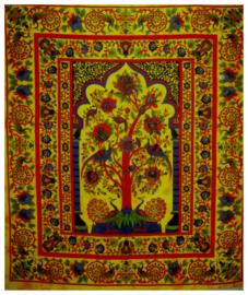 Bedsprei  wandkleed Levensboom Tree of Life groen 200 x 220 cm dessin 2