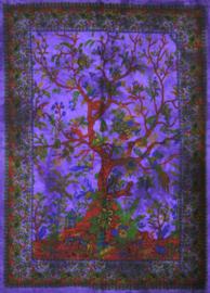 Muurkleed Wandkleed Levensboom paars  - 80 x 110 cm