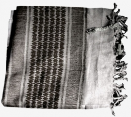 Arafatsjaal / Shemagh / Palestijnse sjaal zwart wit - zware kwaliteit
