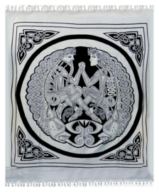 Bedsprei / wandkleed Keltische Man en Vrouw 200 x 220 cm
