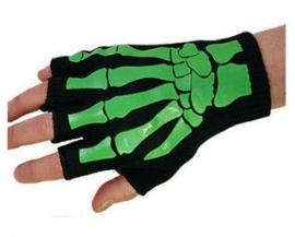 Darkside Gothic handschoenen skeletale handen groen