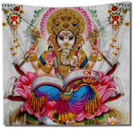 Wandkleed bedsprei grand foulard Ganesha 150 x 150 cm