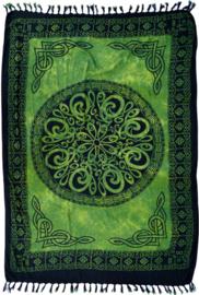 Bali Sarong Pareo Wandkleed Tafelkleed Altaarkleed Keltisch Groen - 100 x 160 cm
