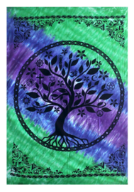 Bedsprei wandkleed Levensboom multifaith -147 x 208 cm