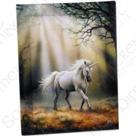 Glimps of a Unicorn - wall plaque by Anne Stokes - 25 x 19 cm