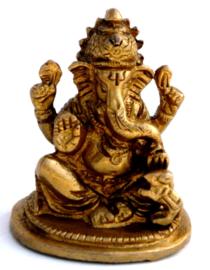 Ganesha - messing - 6 cm hoog - dessin 2
