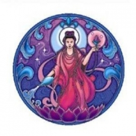 Window sticker Quan Yin