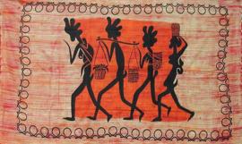 Bedsprei wandkleed Afrikaanse Waterdragers 120 x 220 cm