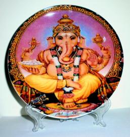 Sierbord met standje - Zittend Ganesha - 21 cm doorsnee