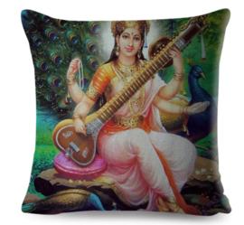 Kussenhoes Hindu God - Saraswati 1 - 45 x 45 cm