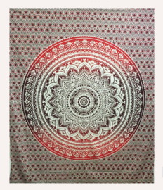 Bedsprei wandkleed Lotus Mandala bruin - 200 x 220 cm