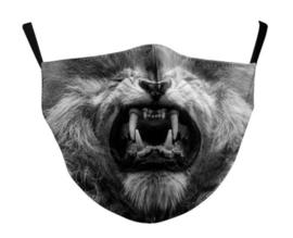 Leeuwenhoofd herbruikbaar gezichtsmasker 13 x 39 cm