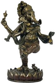 Ganesha beeld brons dansend 20 cm hoog
