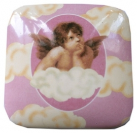 Porcelain cherub design jewelry box (1)
