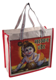 Bollywood Bag Indiase katoenen shopper - Krishna 1 - 35 x 40 x cms
