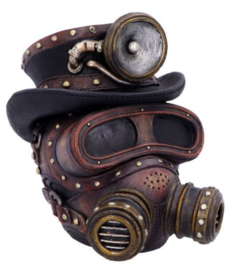 Mechanical Oxygenation Steampunk Cybergoth Doodskop 18 cm hoog