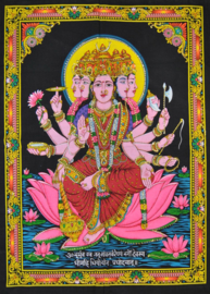Wandkleed Hindu God Gayatri - c.a. 80 x 110 cm