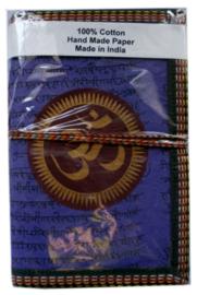 Indiase journaal 8 x 13 cm OHM paars