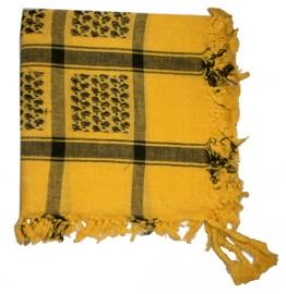 Arafatsjaal / Shemagh / Palestijnse sjaal zwart geel - zware kwaliteit - double dye